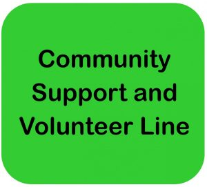 Community Support & Volunteer Line